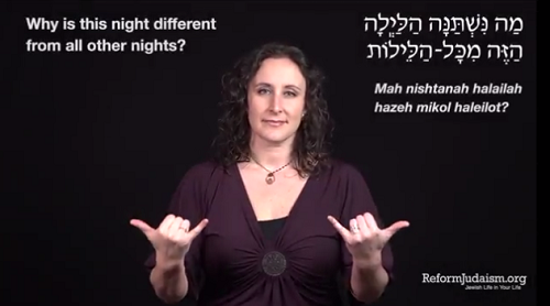 Video: Asking the Four Questions in American Sign Language (ASL) and Hebrew